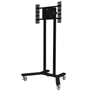 BT8504 Large Flat Screen Display Trolley - Black Poles - Black Base