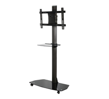 BT8505 - Flat Screen Display Trolley with Glass Base