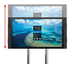 Screens can be adjusted to any height on the poles, for the perfect viewing angle