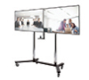 Twin Screen VC Display Trolley - with screens