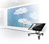 BT8540 Low Level Flat Screen Trolley - Portrait Screen