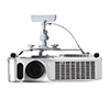 BT881 Universal Projector Ceiling Mount - White with Projector
