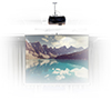 BT881 Universal Projector Ceiling Mount - Lifestyle Image