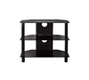BTF101 3 Shelf Tempered Black Glass AV Stand