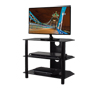 BTF101 3 Shelf Tempered Black Glass AV Stand with Screen