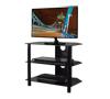 BTF101 3 Shelf Tempered Black Glass AV Stand with Screen
