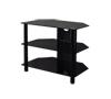 BTF101 3 Shelf Tempered Black Glass AV Stand