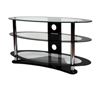 BTF104 3 Shelf Oval AV Stand - Clear Glass