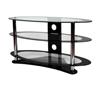 BTF104 3 Shelf Oval AV Stand - Clear Glass