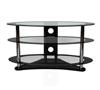 BTF104 3 Shelf Oval AV Stand - Clear Glass - Front