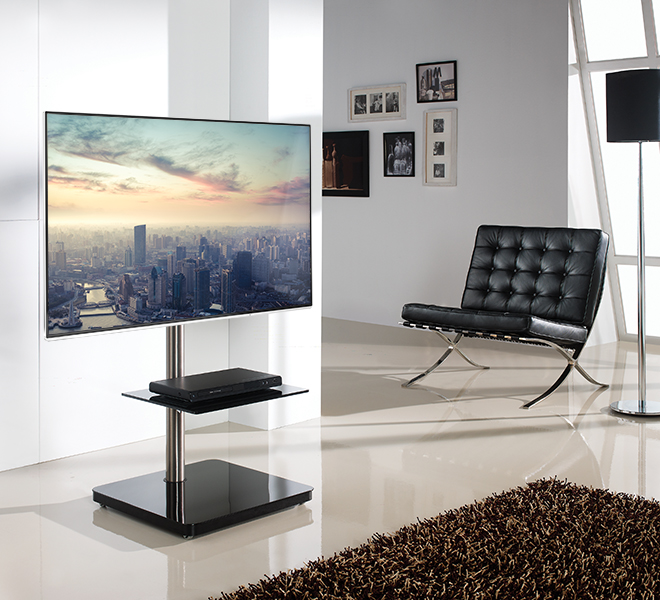 Flat Screen Tv Stand With Square Base Products B Tech International