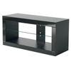 BTF802 Flat Screen TV Cabinet with Glass Top in Black