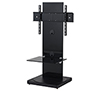 BTF810 1m TV Stand with 1 Shelf - Black