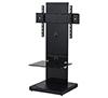 BTF810 1m TV Stand with 1 Shelf - Black