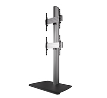 Dual Stack Flat Screen Floor Stand