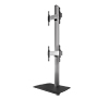 System X™ Universal Dual Stack Flat Screen Floor Stand - 2.4M