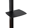 Collar compatible accessories such as shelves (available separately) can be fitted directly to the column