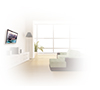 BTV501 Flat Screen Wall Mount with Tilt - Lifestyle Image