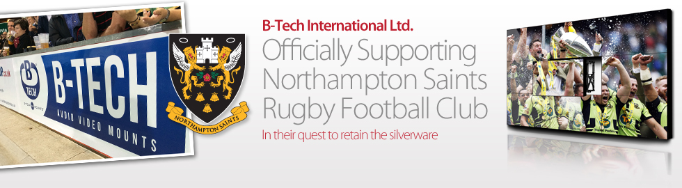 B-Tech International Ltd. Officially Supporting Northampton Saints Rugby Football Club