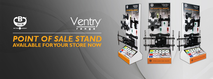 BTV-DS2 Ventry Point of Sale Display Stand