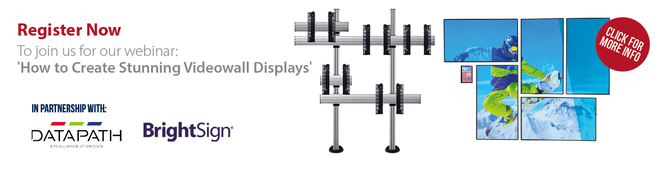 View our recent Webinar 'How to Create Stunning Videowall Displays'