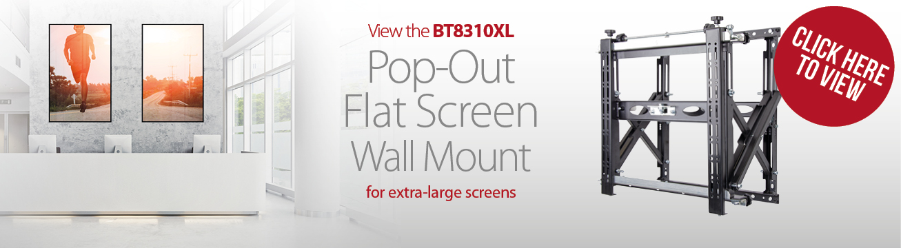 Heavy Duty Pop-Out Flat Screen Wall Mount with Quick Lock Push System