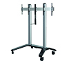 BT8515 - Universal Twin Screen VC Trolley - Silver with Black Base