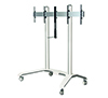 BT8515 - Universal Twin Screen VC Trolley - White with Silver Mounting Rail
