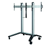 BT8516 - Universal Twin Screen VC Trolley - Silver with Black Base