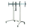 BT8516 - Universal Twin Screen VC Trolley - White with Silver Mounting Rail