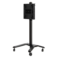 Flat Screen Trolley With Adjustable Height