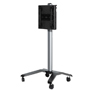 BT8563 - Universal flat screen trolley with height adjustment - Black / Silver