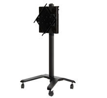 BT8567 - Flat Screen Trolley With Flip Rotation & Height Adjustment - Black