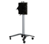 BT8567 - Flat Screen Trolley With Flip Rotation & Height Adjustment - Silver / Black