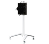 BT8567 - Flat Screen Trolley With Flip Rotation & Height Adjustment - White