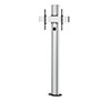 BT8704 - Premium Bolt Down Single Screen UC Stand - Silver and Black