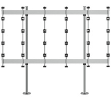BT93INFWP-B-5X5  - Bolt Down Stand for INFiLED WP Series 4x4 DVLED Videowall