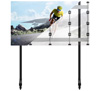 BT93INFWP-M-4X4 - Mobile Stand with Black Columns