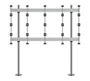 BT93INFWP-B-4X4 - Bolt Down Stand with Silver Columns