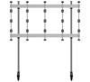BT93INFWP-M-4X4 - Mobile Stand with Silver Columns