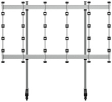 BT93INFWP-M-5X5  - Mobile Stand for INFiLED WP Series 4x4 DVLED Videowall