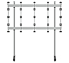 BT93INFWP-S-4X4 - Floor Stand with Silver Columns