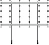 BT93INFWP-S-5X5 - Floor Stand with Silver Columns