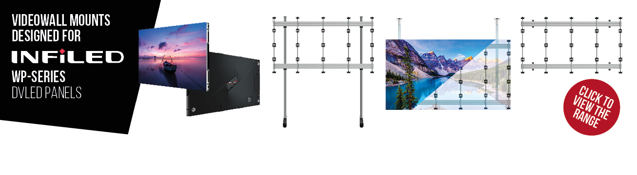 Videowall Mounts Designed for INFiLED WP-Series
